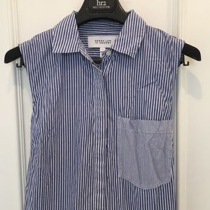 Derek Lam 10 Crosby Blue Striped Shirt Dress Sz 8